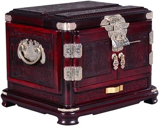 Zhamco Aretes Redwood Caja de joyería Antigua-con Cerradura de ...
