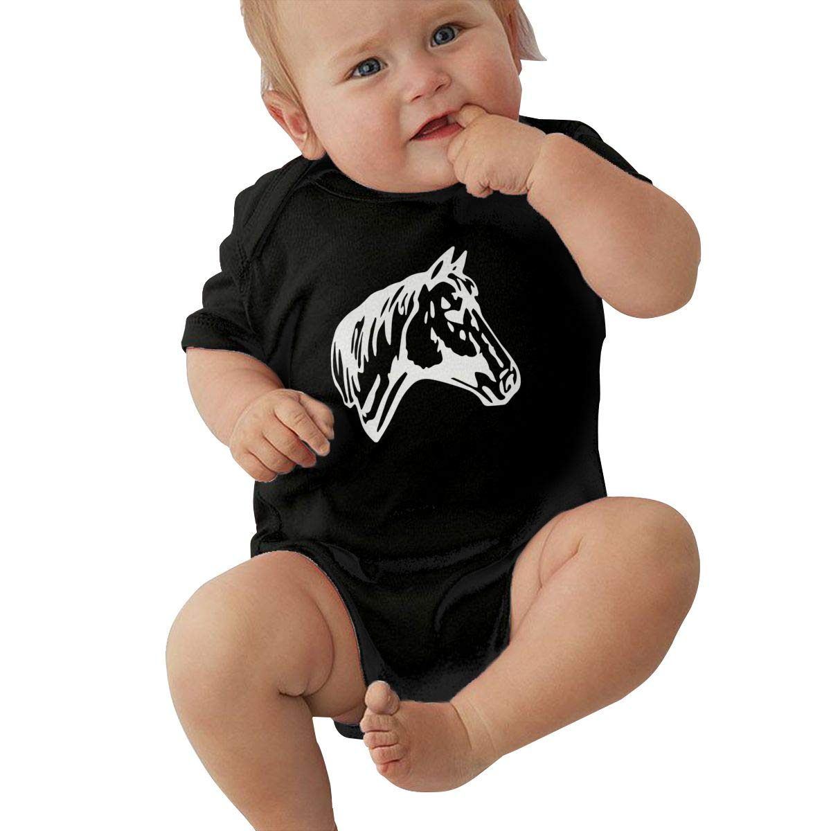 Horse Silhouette Toddler Baby Girl Boy Romper Jumpsuit Outfit Short Sleeve Bodysuit Tops Clothes