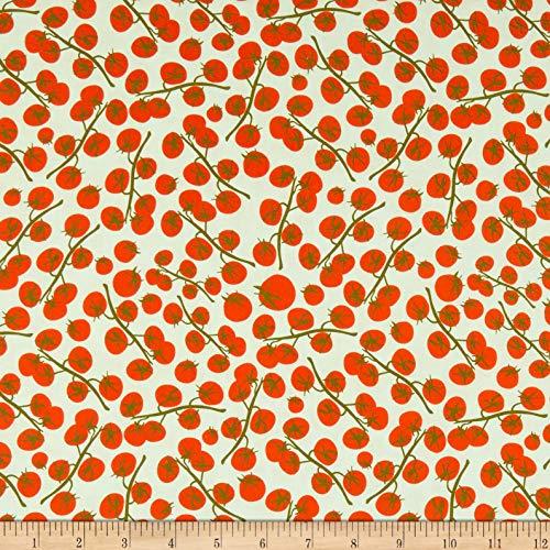 Windham Fabrics Mazy Dylan Merzwinski Tomato Light Fabric Fabric by the Yard