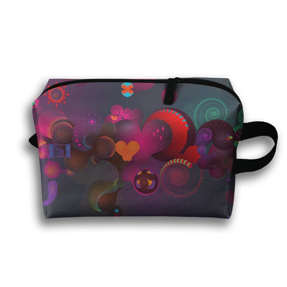 Color Love Cosmetic Bags Makeup Organizer Bag Pouch Zipper Purse Handbag Clutch Bag