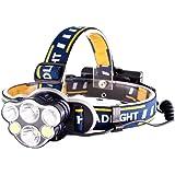ヘッドライト 充電式 8点灯モード 高輝度 12000ルーメン IPX4防水 お釣り 登山 キャンプ 防災 作業灯 18650電池付属