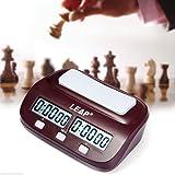 JZK Reloj de ajedrez Temporizador Profesional de ajedrez para hogar y Todo Tipo de Juegos competitivos