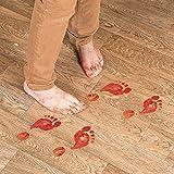 Set of 8 Bloody Footprints Floor Clings