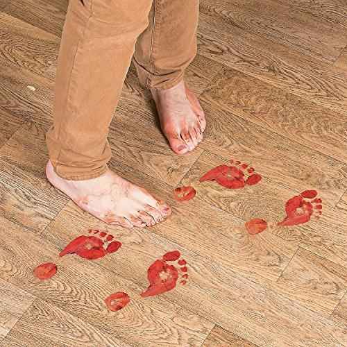 Set of 8 Bloody Footprints Floor -