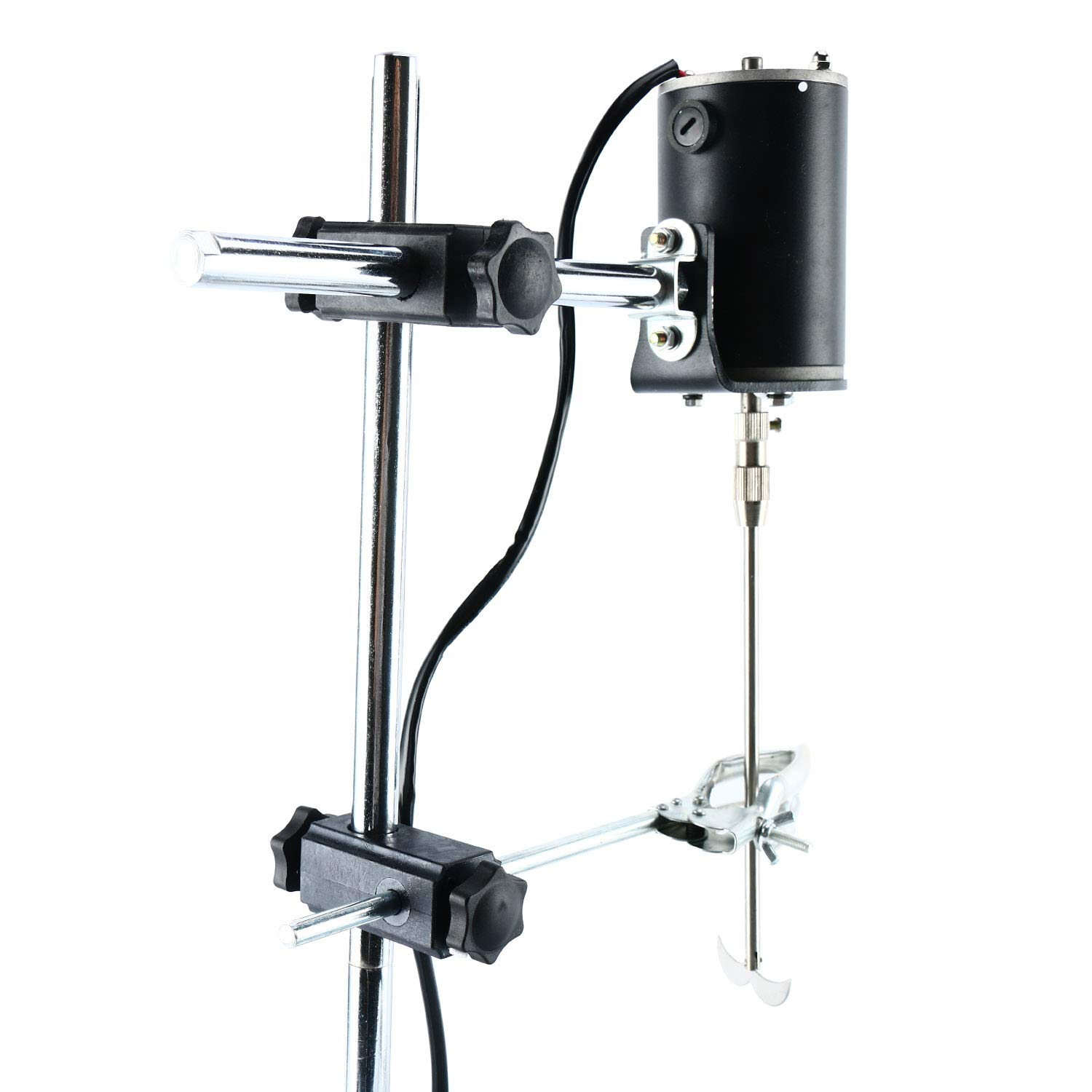 YaeCCC Electric Overhead Stirrer Mixer 0-2000 Revolutions Per Minute Overhead Stirrer Mixer 100W Overhead Stirrer 0-120 Minutes for Lab Mechanical Mixer by YaeCCC (Image #6)