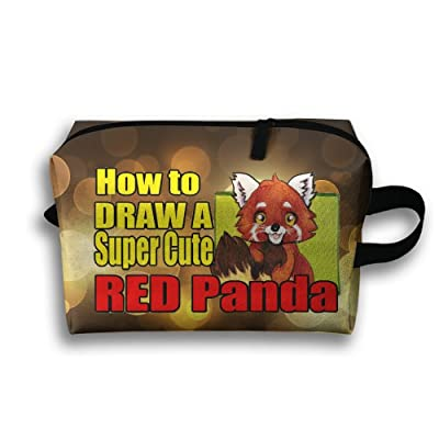 69541d10b3 Novelty How To Draw A Super Cute Red Panda Travel Multifunction Toiletry  Organizers Cosmetic Bag Business