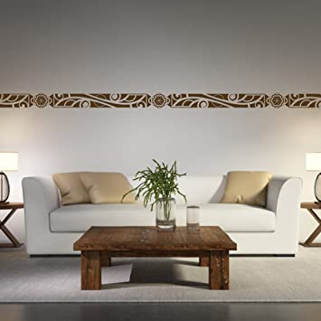 Malango® Afrikanische Bordüre Wandtattoo Aufkleber Wandaufkleber Dekoration  Schlafzimmer Wohnzimmer Styling Design 18 X 131 Cm