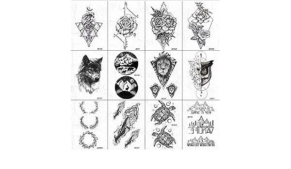 ruofengpuzi Adesivo tatuaggioCuello De Los Hombres Tatuaje ...