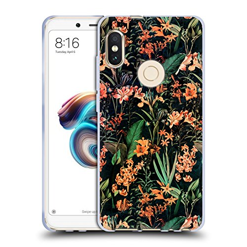Official Burcu Korkmazyurek Exotic Garden Floral 2 Soft Gel Case for Xiaomi Redmi Note 5 / Pro