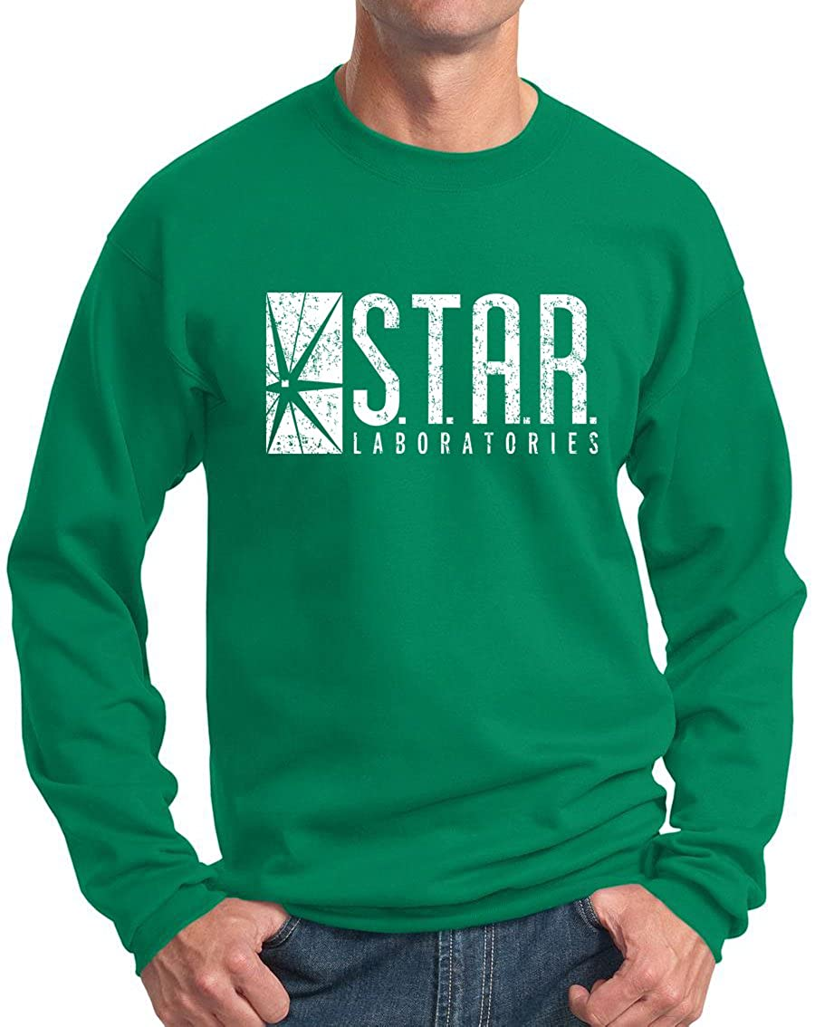 New York Fashion Police Star Labs Sweatshirt - Star Laboratories Crewneck - Vintage Print