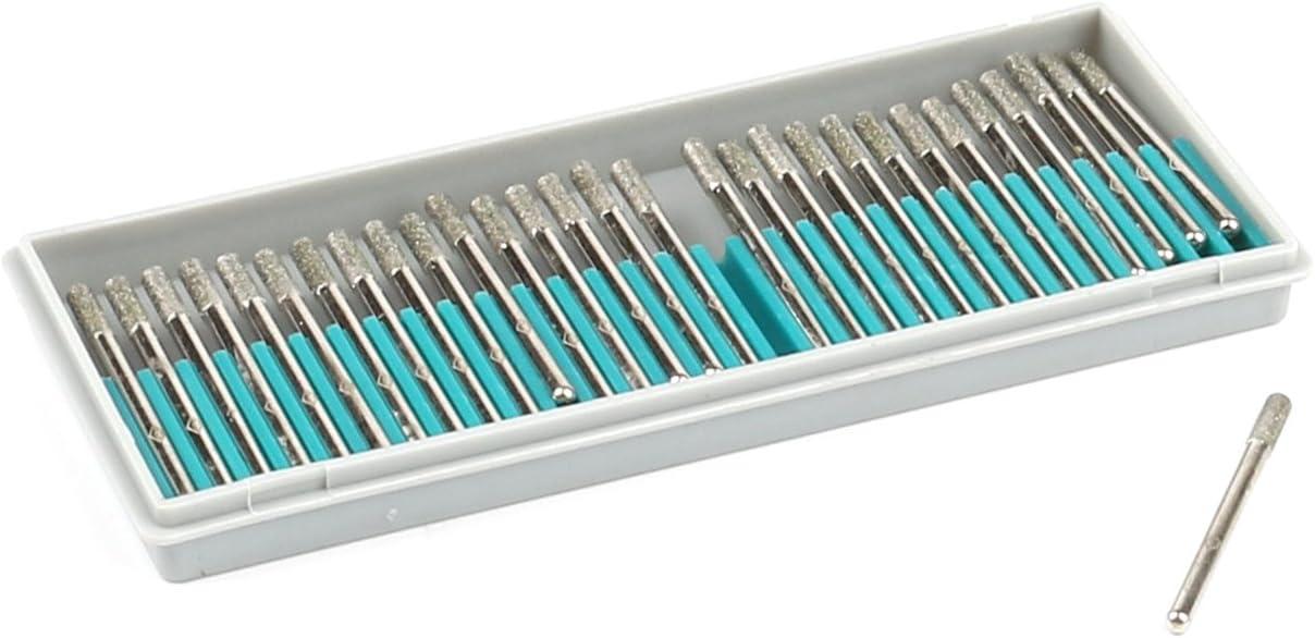 Diamond Grinding bit Diamond Grinding Heads Burrs Bit Set for Dremel Rotary Tool Tip Shape 1//8 Inch Shank C Type BM-30C