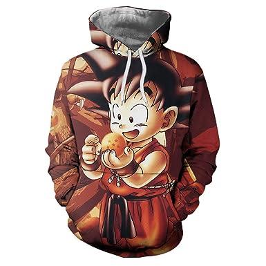 FLAMENCO_STORE Anime Dragon Ball Sudaderas Capucha Goku 3D ...