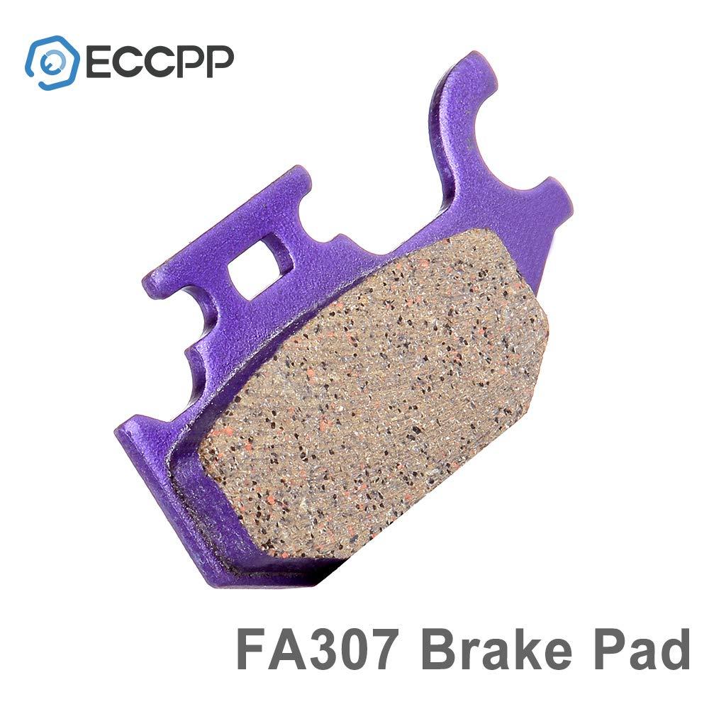 ECCPP Front and Rear Carbon Fiber Brake Pads Fits 2000 2001 2002 YAMAHA YFM 400 Kodiak 4x4 Hunter