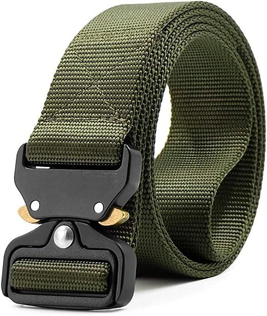 BIGFOX Cinturón Táctico Militar Ajustable de Nylon con Hebilla de ...