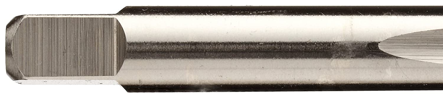 3//8-16 Thread Size Finish Union Butterfield 1585NR UNC Round Shank with Square End 3 Flute Plug Chamfer Bright Non-Relieved Style Uncoated H3 Tolerance High-Speed Steel Spiral Point Tap