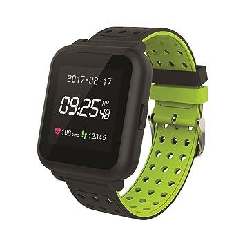 Muvit I/O MIOSMW010 Reloj de Actividad y Sueño, Negro y Verde, M: Amazon.es: Deportes y aire libre
