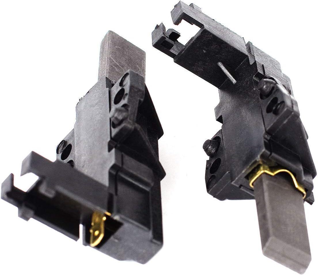 DREHFLEX - ORIGINAL - Cepillos de carbono para varias lavadoras Motor Bauknecht/Whirlpool - MCA - adecuado para la parte no. 481236248004