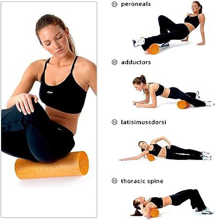 Vaorwne Trigger Point Foam Roller Set Rouleau de Massage /à Haute Densit/é Boule DArachide pour les Muscles Du Dos Du Cou Massage des Tissus Profonds