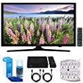 """Samsung UN49J5000 - Flat 49"""" LED HD 5 Series Smart TV (2017) w/ Tuner Bundle Includes, HD Digital TV Tuner, SurgePro 6-Outlet Surge Adapter w/ Night Light, 2x HDMI Cable & Screen Cleaner For LED TVs"""