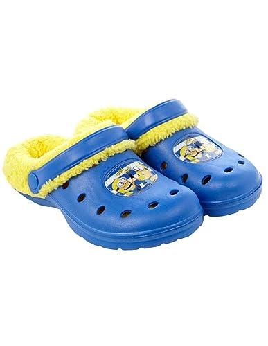 513450ae6e8 les minions Sabots - Crocs fourrés Enfant garçon Bleu Jaune du 30 au 35 -