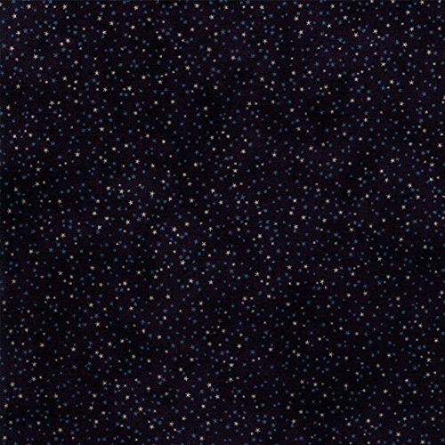 Tiny Cream Stars, Tonal Navy Blue, Snowman Gatherings III, Primitive Gatherings, Moda 1213-16, By the Yard
