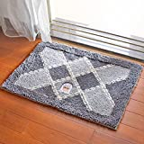 Door mat door mat door bathrooms in the Hall toilet bathroom mat absorbent bathroom mat rug mat Plaid grey