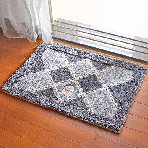 Door mat door mat door bathrooms in the Hall toilet bathroom mat absorbent bathroom mat rug mat Plaid grey by ZYZX