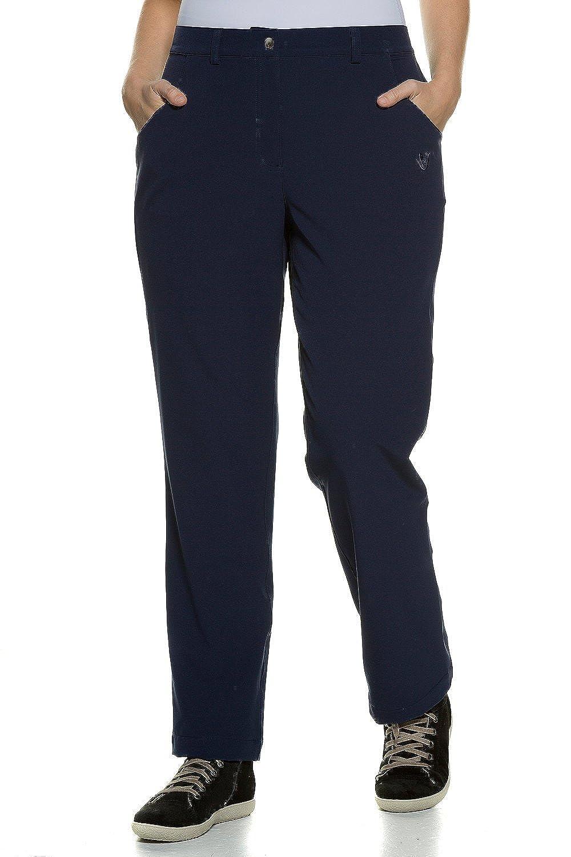 Ulla Popken Women's Plus Size Snap Zip Closure Stretch Pants 708725