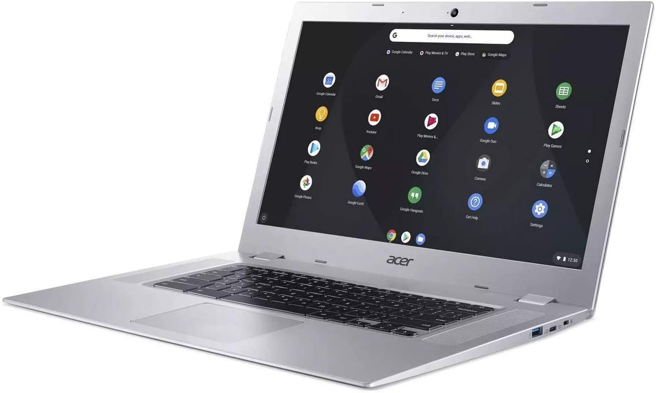 "Acer Chromebook 15 CB315 15.6"" Full HD Touch, AMD Dual-Core A4-9120, 4GB LPDDR4, 32GB Storage, Google Chrome, Pure Silver"