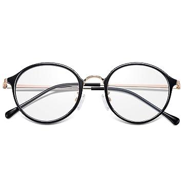 Amazon.com: BLBAN Hipster - Gafas para ordenador (metal ...