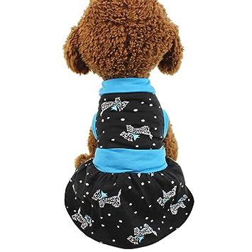 Amazon.com: Cachorros, chaleco, vestido, ooeoo pequeño perro ...