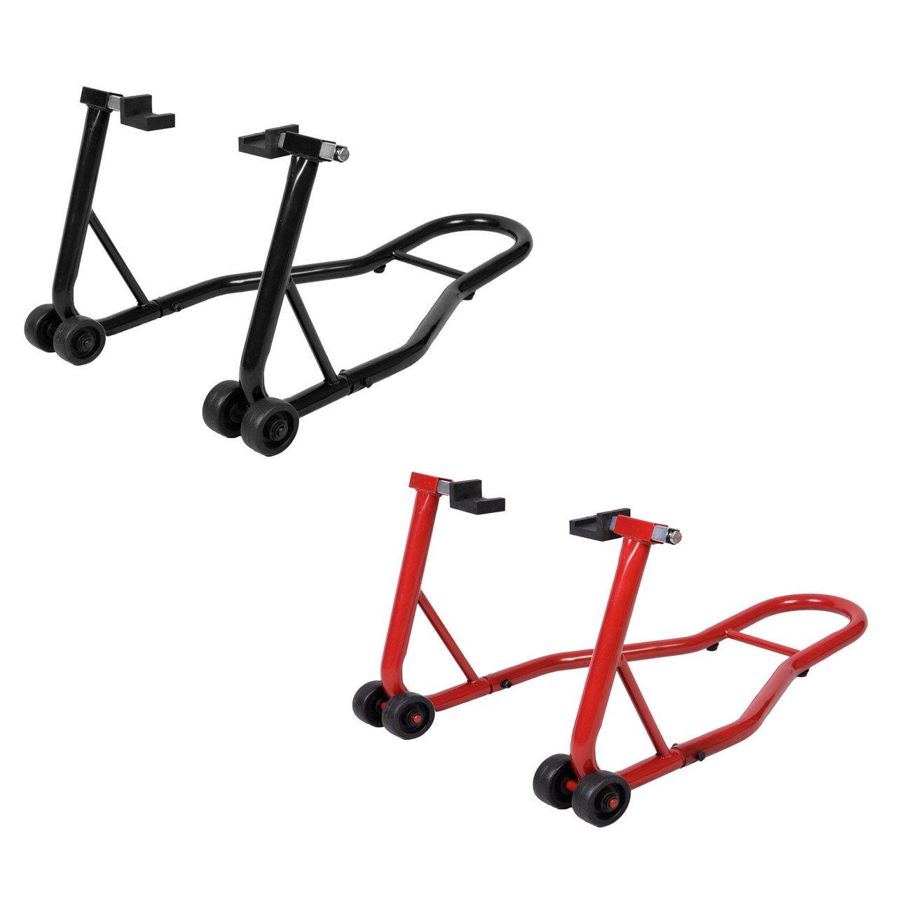 COSTWAY Motorradst/änder hinten Montagest/änder Motorrad St/änder Halter Radhalter f/ür Hinterrad Hinterradst/änder breitenverstellbar Farbwahl Rot