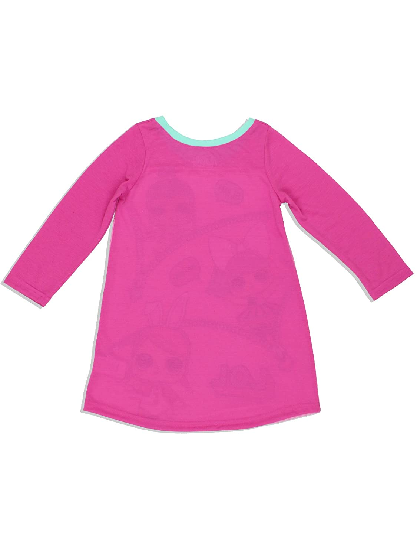 L.O.L Surprise Girls Long Sleeve Nightgown Pajamas 8, Pink
