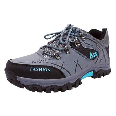 Yudesun Hombres Deportes Al Aire Libre Trekking Senderismo Zapatos - Caminar Impermeable Escalada Zapatillas de Deporte Equitación Resistente al Desgaste ...