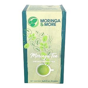 MORINGA & MORE Moringa Tea - Best from the Philippines - 6 grams x 20 tea bags Superfood Healthy Beverage; best organic green tea