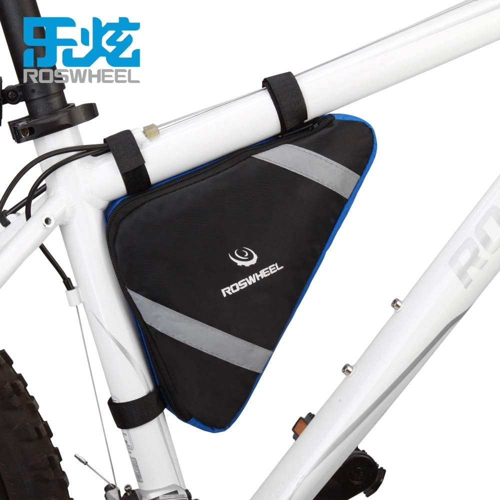 Bicycle Mountain Bike Cycle Triangular Bag Front Frame Tube Corner Storage Pouch