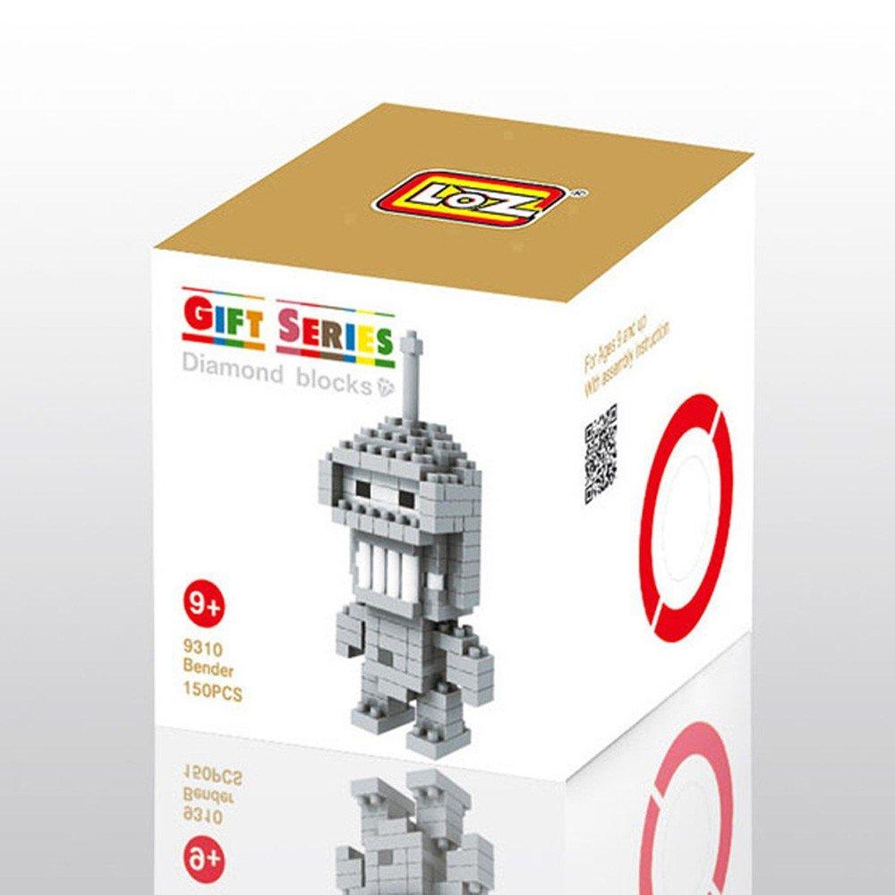 Loz Diy Diamond Blocks Figure Toy 9310 Bender Toys Games Nano Block Nanoblock Kung Fu Panda Po