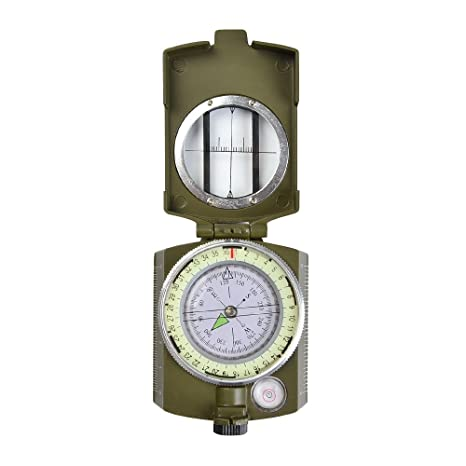 c8824aeff7 atpwonz オイルコンパス 方位磁石 緯度と経度 計測 防水 折り畳み 蛍光付軍用 登山用