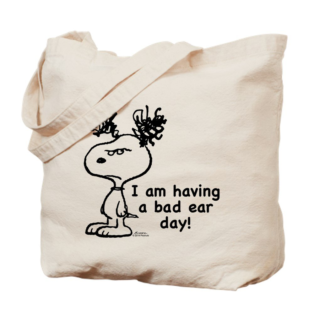 CafePress – スヌーピー: Bad Day耳 – ナチュラルキャンバストートバッグ、布ショッピングバッグ S ベージュ 1486977425DECC2 B0773S4V41 S