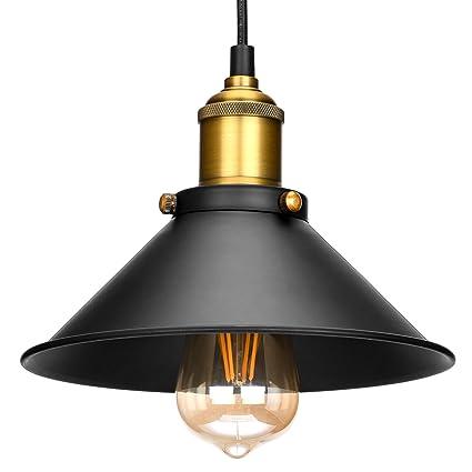 Lámpara de techo Oak Leaf estilo vintage, retro, Edison Loft ...