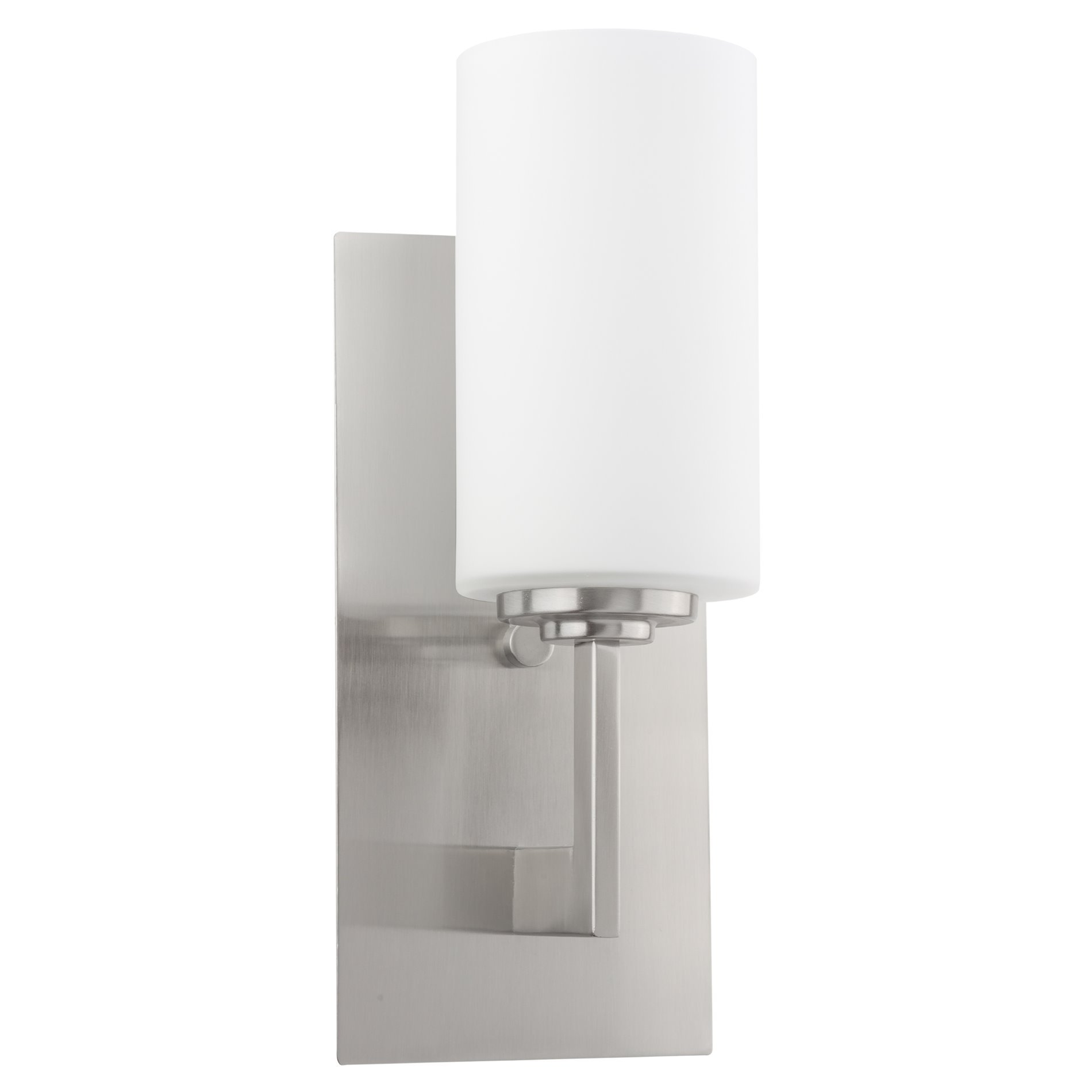 Revel/Kira Home Celene 13'' Contemporary One-Light Bathroom Wall Sconce/Wall Light Vanity + Frosted Glass Shade, Brushed Nickel Finish