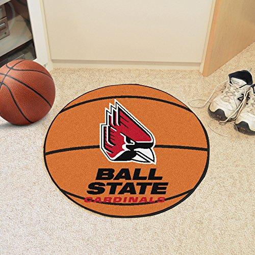 (FANMATS NCAA Ball State University Cardinals Nylon Face Basketball Rug)