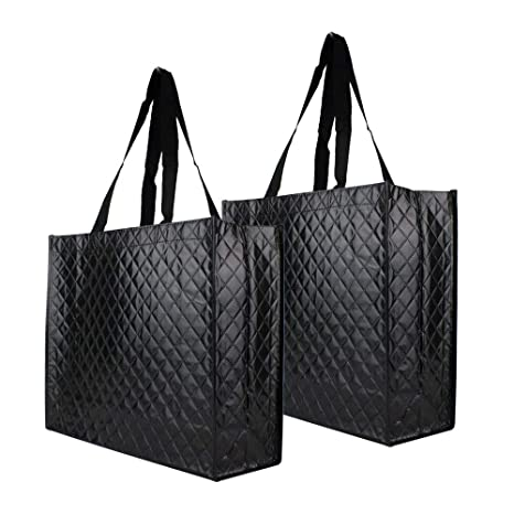56600b1567 Amazon.com: Reusable Tote Grocery Bags - Supermarket Shopping Bags ...