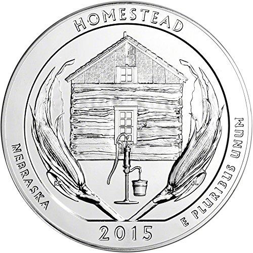 2015 ATB Silver (5 oz) Homestead Quarter Brilliant Uncirculated US Mint