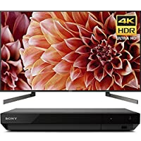 """Sony Bravia XBR85X900F 85"""" 4K HDR HLG Triluminos Android LCD TV with Google Assistant 3840x2160 & Sony UBPX700 Ultra HD BluRay Player with Dolby Vision"""