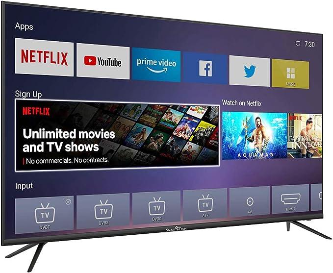 Smart Tech TV LED UHD 4K Netflix/Youtube 55