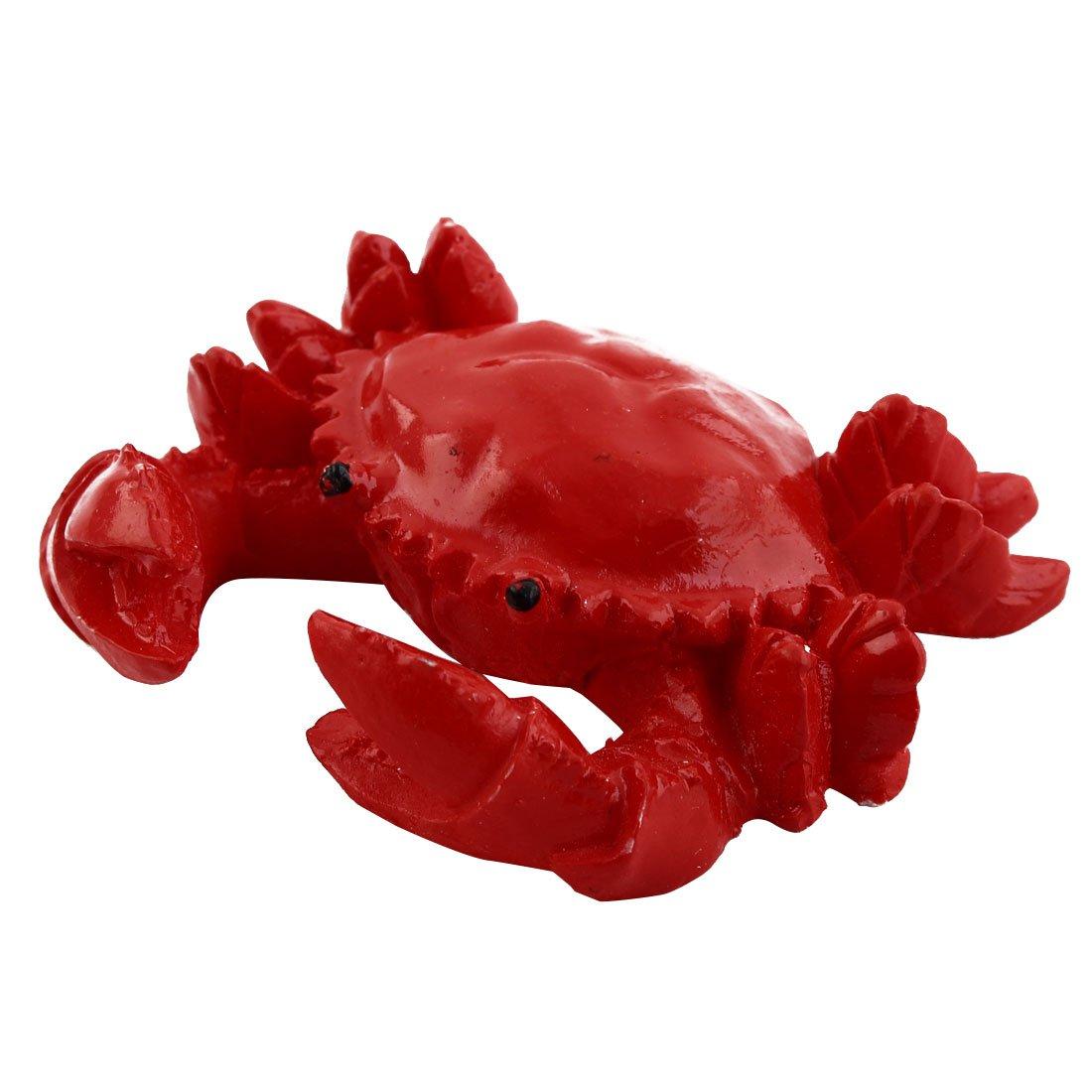 sourcing map Tanque de Peces de Acuario Submarino de cerámica de diseño de Cangrejo Rojo Ornamento Animal Artificial: Amazon.es: Productos para mascotas