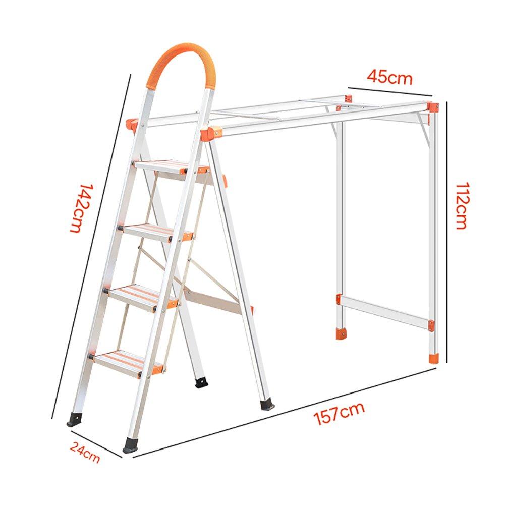 YD スツール 家庭用折り畳みステップスツール乾燥大人のための洋服ラックポータブルステップスツール/踏み台/収納棚/フラワーラック ステップスツール B07GCK4SC1  4 tiers