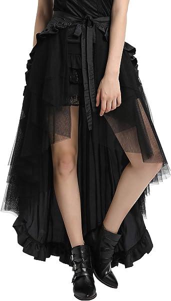 Belle Poque Falda Mujer Enagua Retro Encaje Victoriano ...