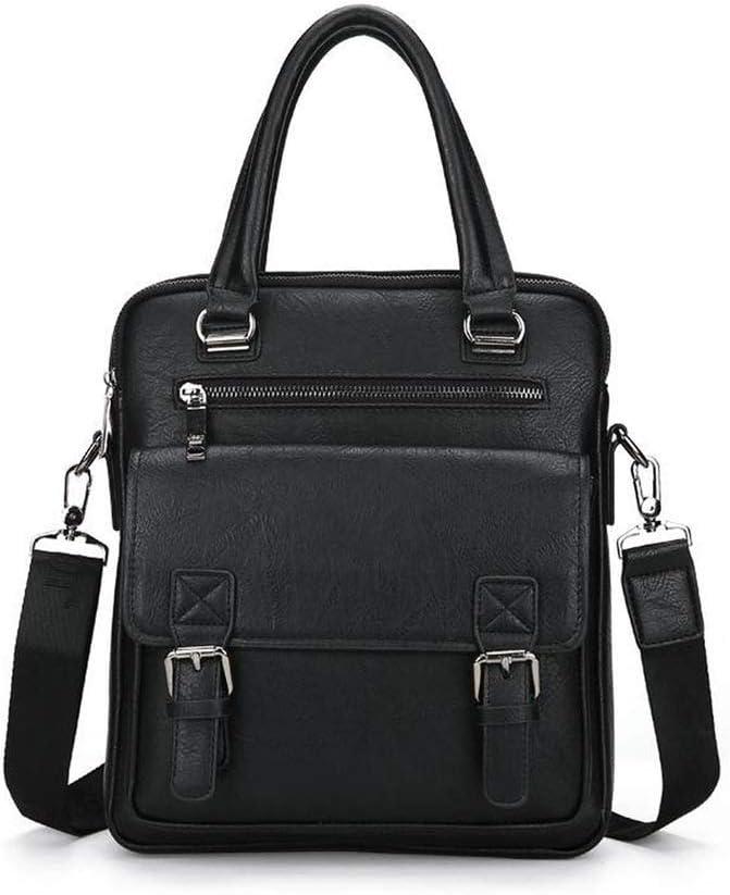 Men Split Leather Handbag Zipper Business Polyester Two Silt Pocket Soft Handle Briefcases Bags,Small Khaki